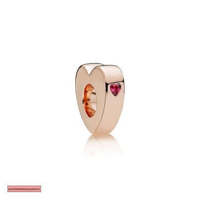 Pandora Scontati Two Cuores Spacer PANDORA Rose Red CZ