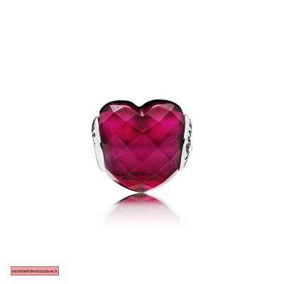 Pandora Scontati LOVE Charm Fuchsia Red Crystal