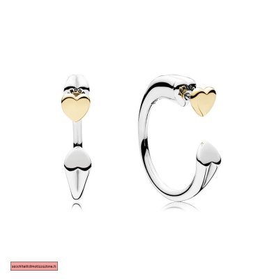 Pandora Scontati TWO HEARTS EARRING HOOPS